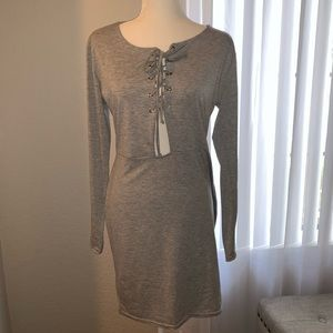 Long sleeve Grey Missguided casual dress